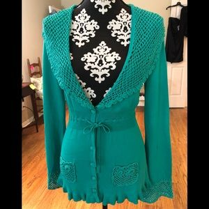 Nanette Lepore teal Sweater